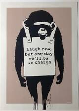 BANKSY -  LAUGH NOW - SCREEN PRINT
