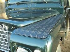 LAND ROVER DEFENDER  90/110 WING TOP  CHEQUER PLATE >2006  RE566B - BLACK PAIR