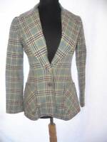 Vintage 70s Patty Woodard S Blazer Hipster Nerd Chic Blue Plaid