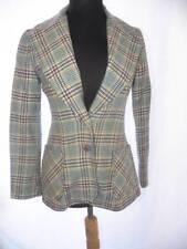 1970s Vintage Patty Woodard Hipster Nerd Chic Sz S Plaid Blazer Jacket