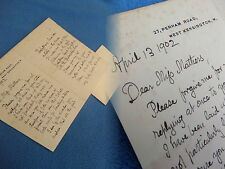 HUGH THOMSON, SIGNED AUTOGRAPHED LETTER DATED 1902, UNIQUE AND EXTREMELY RARE.
