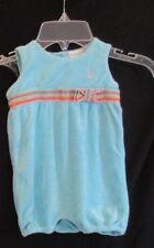 Ralph Lauren Baby Girl  Romper  Aqua Terry Sleeveless Spring Summer Size 9M