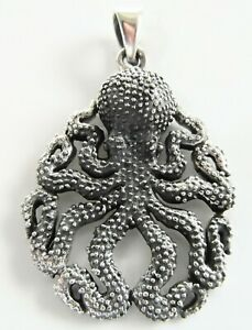 Sterling Silver (925)  Octopus  Pendant    !!        Brand  New !!