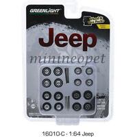 VW Volkswagen *** Greenlight 1:64 NEU Axles Wheels Tires 4 Satz Set