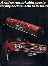 Datsun Nissan 1300 Bluebird 1970-71 UK Market Foldout Sales Brochure