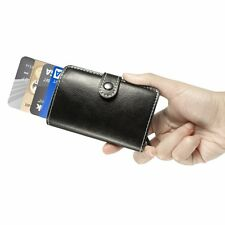 ManChDa Men RFID Blocking Business Credit Card Holder Automatic Pop-up Card Case