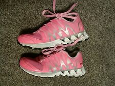 Womens Reebok Shoes Sz. 9.5W ZigTech Running Athletic Pink & Silver