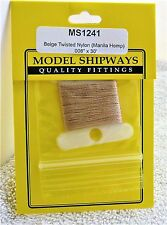 "Model Shipways Fittings MS 1241 Beige Twisted Rigging. .008"" X 30'. 10 YDS. NEW."