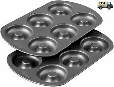 New listing Wilton Non-Stick 6-Cavity Donut Baking Pans, 2-Count