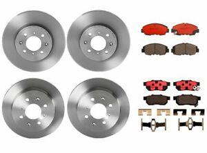 Brembo Front Rear Brake Kit Disc Rotors Ceramic Pad For Honda Civic Si 1999-2000