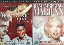 2 x DVD Pack ~ Hollywood Legends & Remembering Marilyn ~ Elvis ~ James Dean