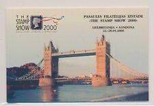 LM57687 Latvia 2000 stamp show London good booklet MNH