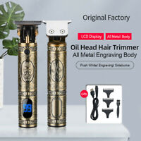 :RESUXI T9  Electric Cordless Zero Gapped Trimmer Hair Clipper Razor  LCD