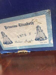 MADAME ALEXANDER COMPOSITION VINTAGE NMINT PRINCESS ELIZABETH DOLL/original Box