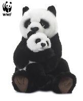 WWF Plüschtier Pandamutter mit Baby (28cm) lebensecht Kuscheltier Stofftier NEU