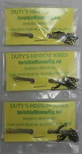 MPN 3 DUTY/'S INVISIBLE MINNOW RIG MINNOW WIRES Great for Salted Minnows! 18