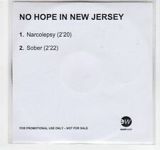 (EC284) No Hope In New Jersey, Narcolepsy / Sober - DJ CD