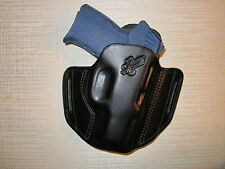 KEL-TEC PF9, FORMED LEATHER PANCAKE HOLSTER, OWB BELT HOLSTER, RIGHT HAND