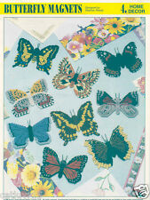 Butterfly Magnets # 1  ~ plastic canvas pattern ~ Annie's pattern  ~ RARE