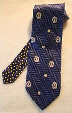 Bugatchi Uomo Mens Neck Tie Made In Italy Blue Polka Dots
