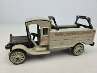 VINTAGE MILEY'S INC CAST IRON HOME TELEPHONE COMPANY GRAY TRUCK TOY