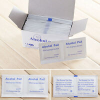 100Pcs Almohadillas de Alcohol Primeros auxilios Toallitas Limpieza antiséptico