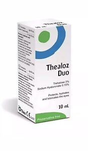 Thealoz Duo 10ml Spectrum Thea Preservative Free For Dry Eye Hyabak Trehalose