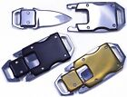 Knife Buckles With Safety Latches - Great for Paracord Bracelets or Keyfobs