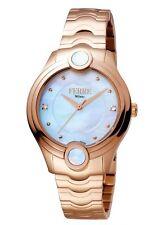 Ferre Milano Women's FM1L083M0051 MOP Dial Rose-Gold IP Steel Wristwatch