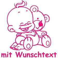 Babyaufkleber Baby-Autoaufkleber Scheibenaufkleber Windel Winni Motiv T06
