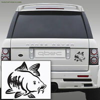 CARP fishing Car/Bamper/Window/Laptop Vinyl Decal Sticker BLACK!!! 10cm x 9cm