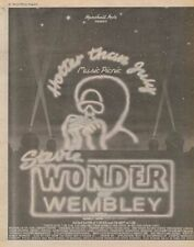 Stevie Wonder Tour advert 1980