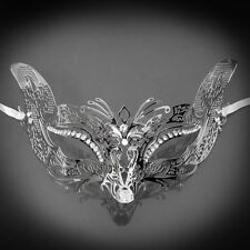 Fox Foxy Cat Venetian Halloween Costume Masquerade Mask Silver M7108