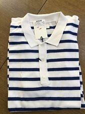 Gant Cotton Silk Breton Polo Shirt tamaño 2xl, color blue, nuevo con etiqueta *
