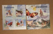 Mozambique Boy Scout Mini Sheet & SS. 2013. SC#s 2892 & 2922. MNH. CV $26.00