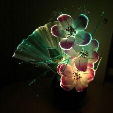 Glasfaser Blumen Lampe Farbwechsel Beleuchtung  Fiberglas Licht Beleuchtung