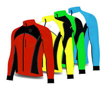Soft shell Wind Stopper Road Bike Bicycle Cycling Jacket Top Thermal Full Sleeve