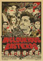 INGLOURIOUS BASTERDS Movie PHOTO Print POSTER Quentin Tarantino Brad Pitt Art 04