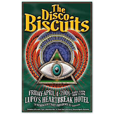 Disco Biscuits Concert Poster Original 2008 Lupos Providence RI NEW