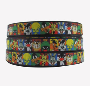 NEW Looney Tunes Grossgrain Ribbon 5/8 Inch - 1M,2M,3M,4M or 5M U Choose