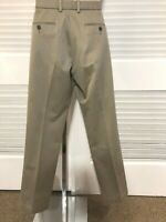 Dockers Khaki-Tan Size 32x29 SLIM FIT CHINOS; 100% Cotton, Flat Front, NO Cuffs