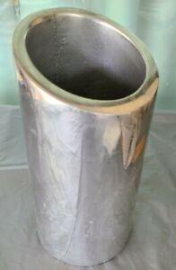 NAMBE 541 Tilt Wine Chiller Cooler  Utensil Holder Silver Metal big scratch