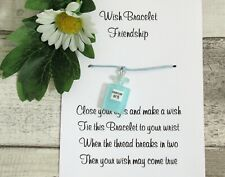Friendship Blue Perfume Wish Bracelet Friends Gift Resin Charm Anklet Birthday