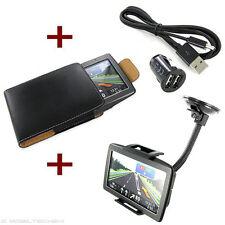 KFZ HALTERUNG 2x USB ADAPTER KABEL TASCHE Navigon 2100 max 2110 2150 3300 3310