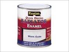 Rustins - Quick Dry Radiator Enamel Paint Gloss White 500ml