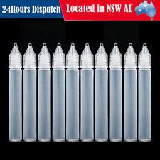 10x Squeezable Empty Plastic Needle Tip Oil Liquid Dropper Bottle Eye Drop 15ML