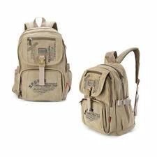 Rucksack Sport Reise Schul Tasche Canvas Stoff Back Pack Outdoor Freizeit