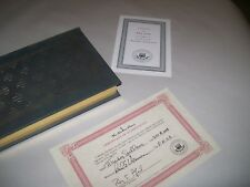 """Book"""" I The Jury""""  Mickey Spillane signed Collectors Edition"""