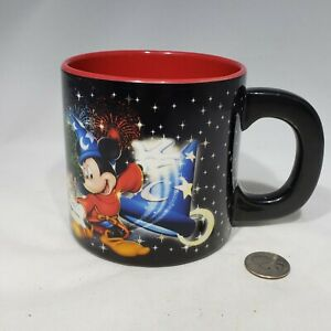 Four Parks One World Walt Disney World Oversized Mug Red Interior Mickey Mouse
