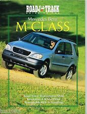 Lrg. Mercedes M Class Brochure / Catalog info By R&T: ROAD TEST,DESIGN,1998,'98